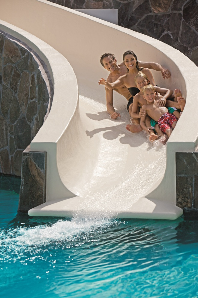 Family water slide at Now Amber