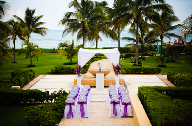 Get married at the amazing garden gazebo at Now Jade Riviera Maya.