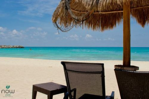 We're loving this photo of the ocean at Now Jade Riviera Cancun. Talk about turquoise!