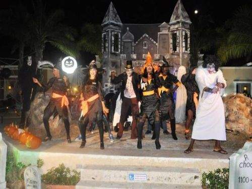 "The entertainment staff at Now Larimar Punta Cana put on a ""spooktacular"" Halloween show!"