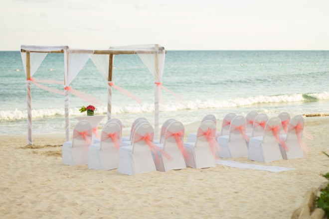 Tie the knot on our gorgeous beach