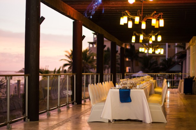 The Ocean View Terrace is the perfect spot for an intimate reception.