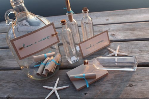 Message in a Bottle Guest  Book by Decadent Designs