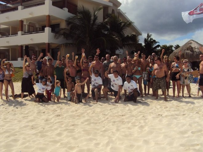 Guests at Now Sapphire Riviera Cancun enjoyed football themed games on the beach!