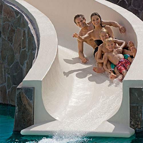 Now Amber's family water slide!