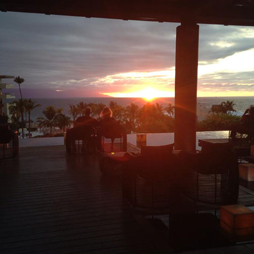 Puerto Vallarta sunset from the lobby!