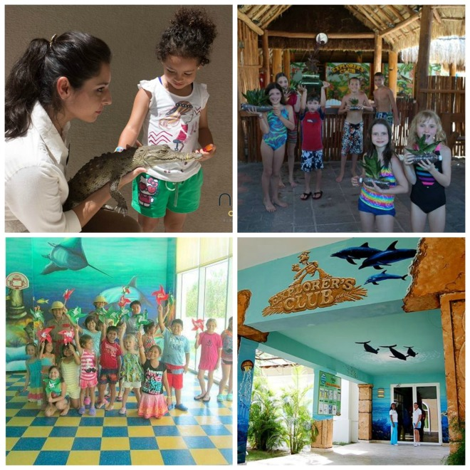 Clockwise from top left: Explorer's Club activities at Now Amber Puerto Vallarta,   Now Sapphire Riviera Cancun, Now Larimar Punta Cana and Now Jade Riviera Cancun.