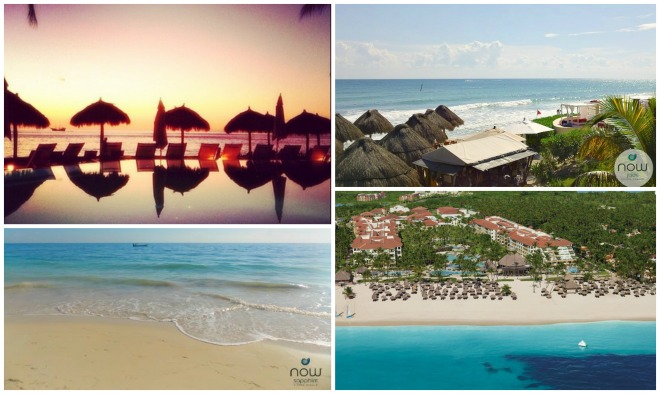 Clockwise from top left: Now Amber Puerto Vallarta, Now Jade Riviera Cancun, Now Larimar Punta Cana and Now Sapphire Riviera Cancun Resorts & Spas.