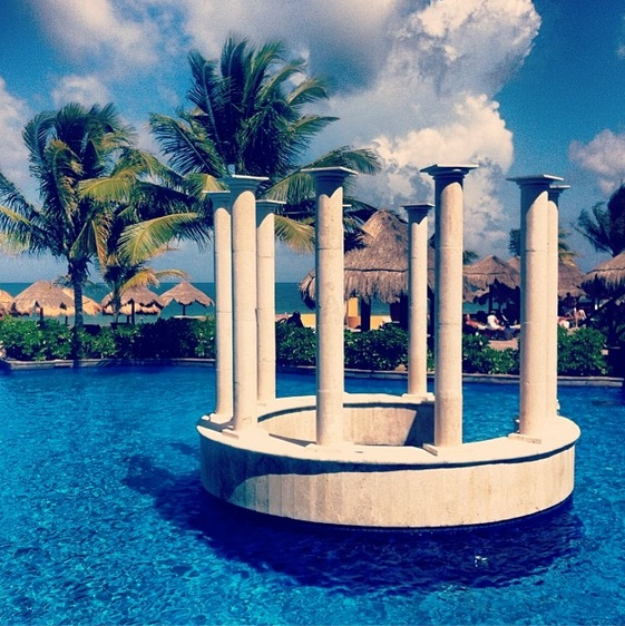 A stunning photo of the main pool at Now Sapphire Riviera Cancun. Thanks to Alex M. for capturing the beauty!