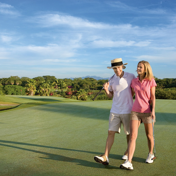 Enjoy a beautiful day on the golf course at Now Amber Puerto Vallarta!