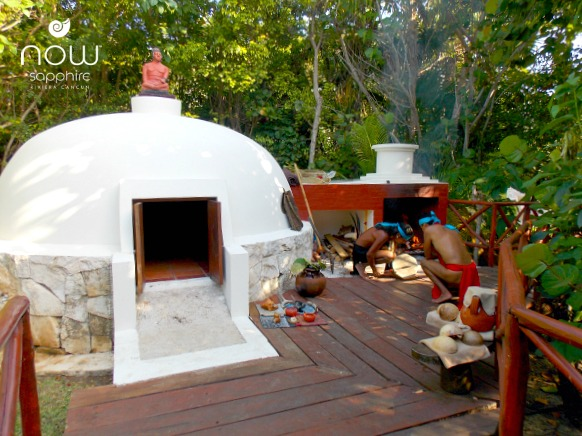 Experience with healing powers within the Temazcal at Now Sapphire Riviera Cancun
